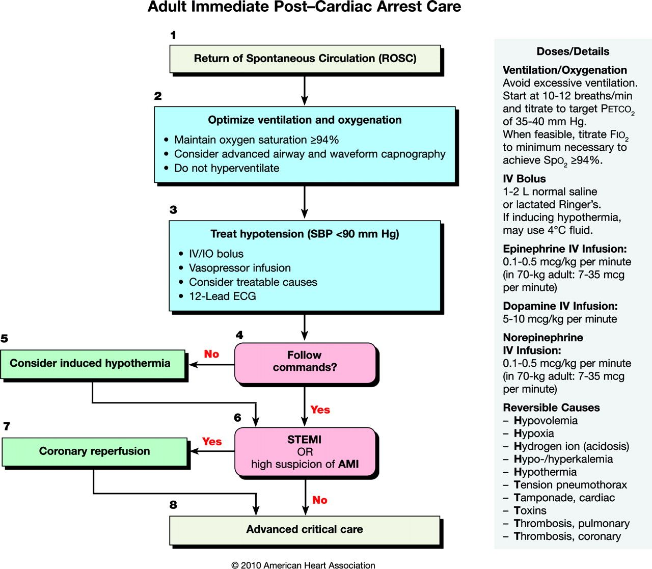 Outside the protocols PostCardiac Arrest Syndrome Acls