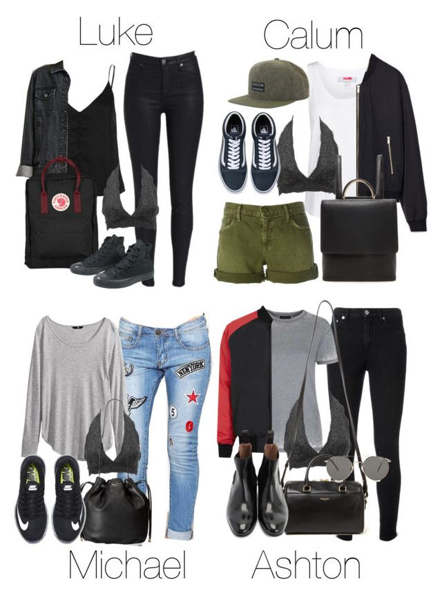 """""""5SOS Styles: Black Lace Bralette"""" by fivesecondsofinspiration ❤ liked on Polyvore featuring Current/Elliott, adidas, Forever 21, Charlotte Russe, Fjällräven, Converse, Billabong, Zara, H&M and Kate Spade"""