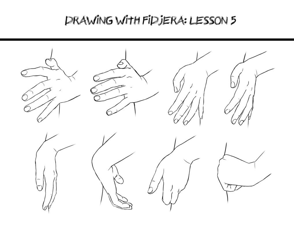 Poses #Hand Drawing with fidjera: Lesson 5 by fidjera on DeviantArt ...