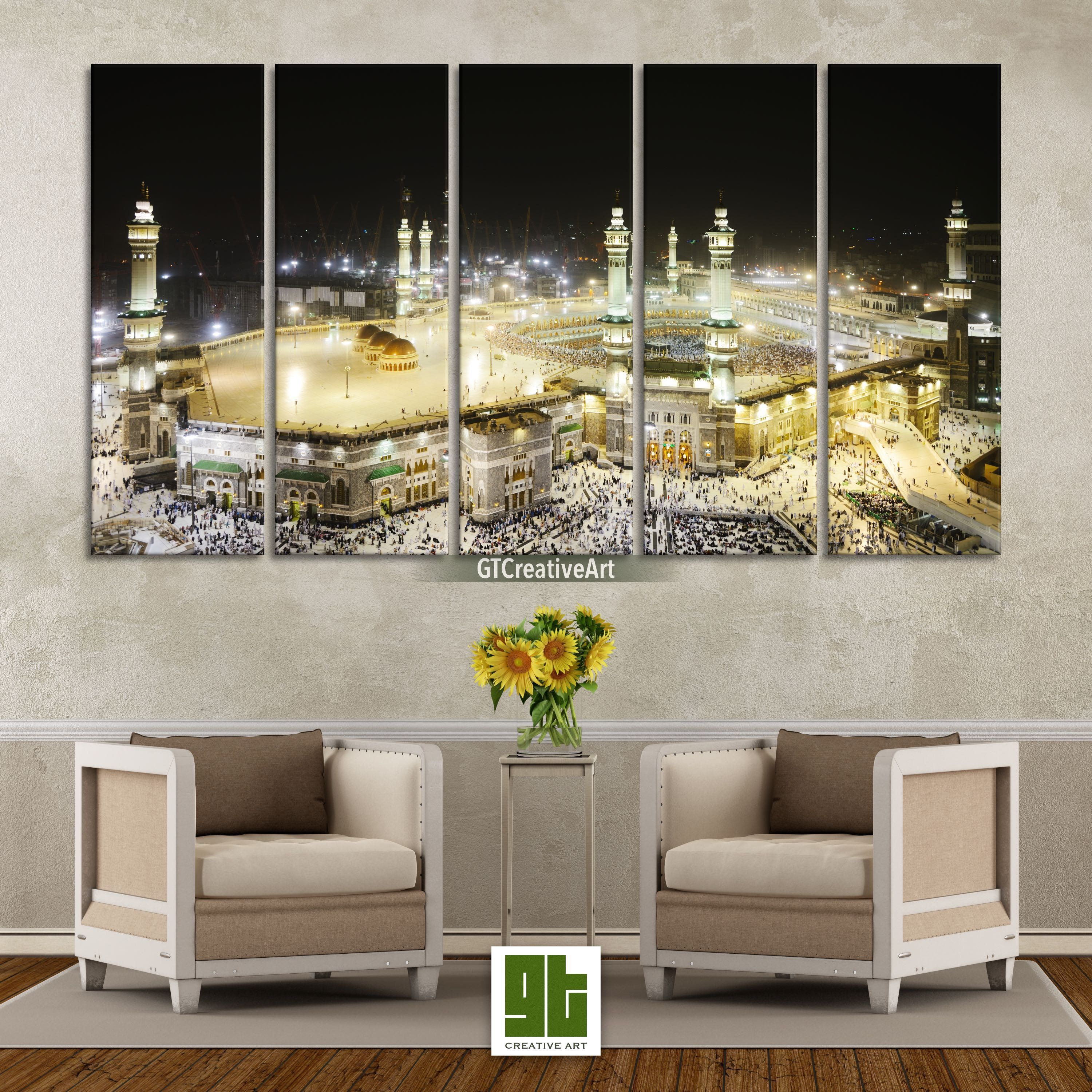 Mecca Mosque Wall Art Multi Panel