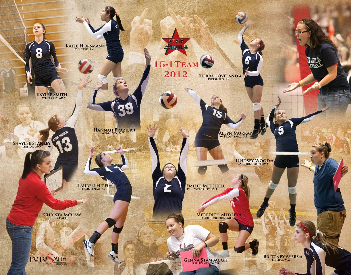 Star Aquila Volleyball Team Composite 2012 Missing Everyone Photography Stars Volleyball Team Will Smith