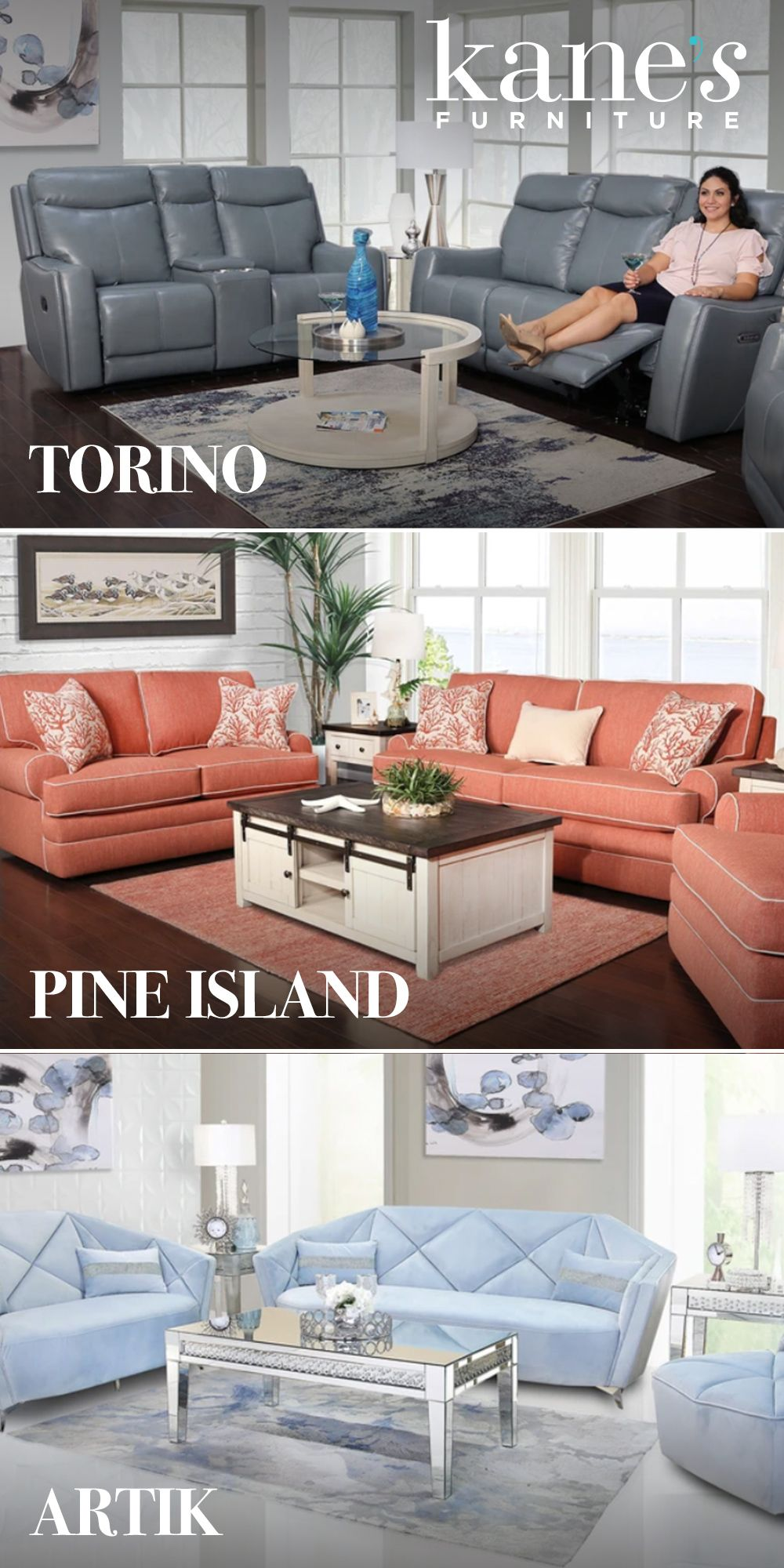 Pin By Kane S Furniture On Sofas Chic Living Room Decor Living Room Sets Living Room Collections