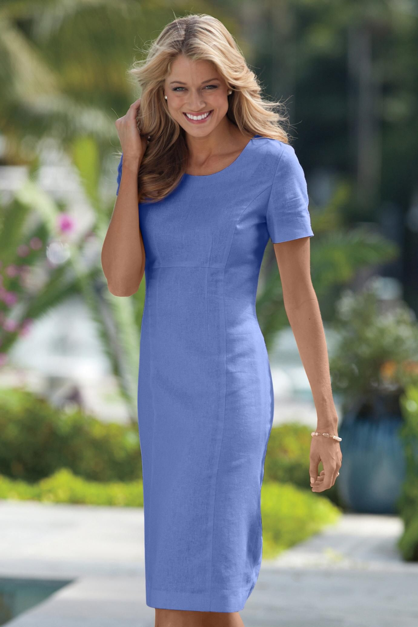 16e9cd76 Perfect Fit Linen Sheath Dress | Made to measure | Linen dresses ...