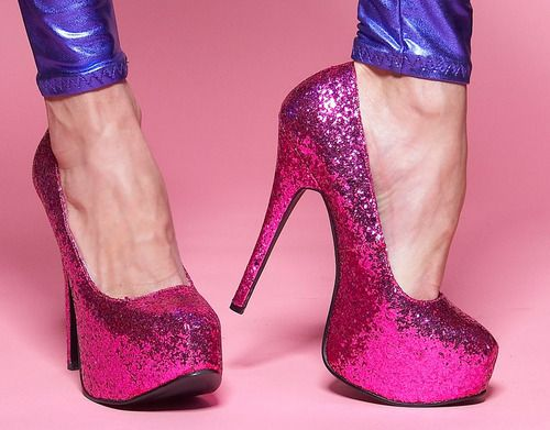 Pink Glitter Bordello | Heels, Pink