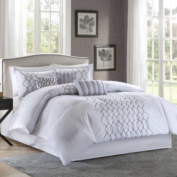 Product Image For Madison Park Iris 7 Piece Comforter Set In