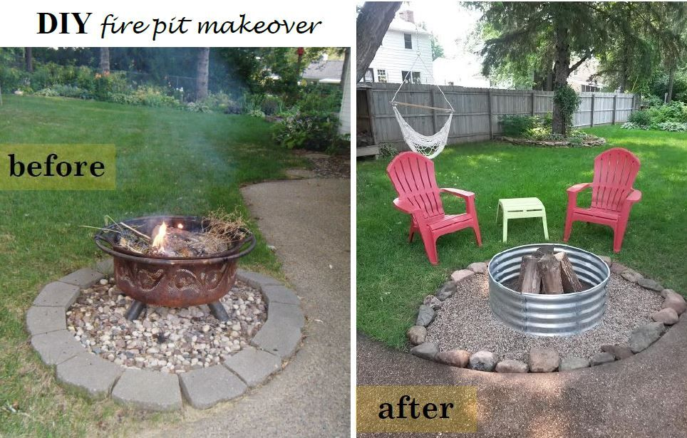 Diy Fire Pit Makeover My Blog Simplychic Pinterest
