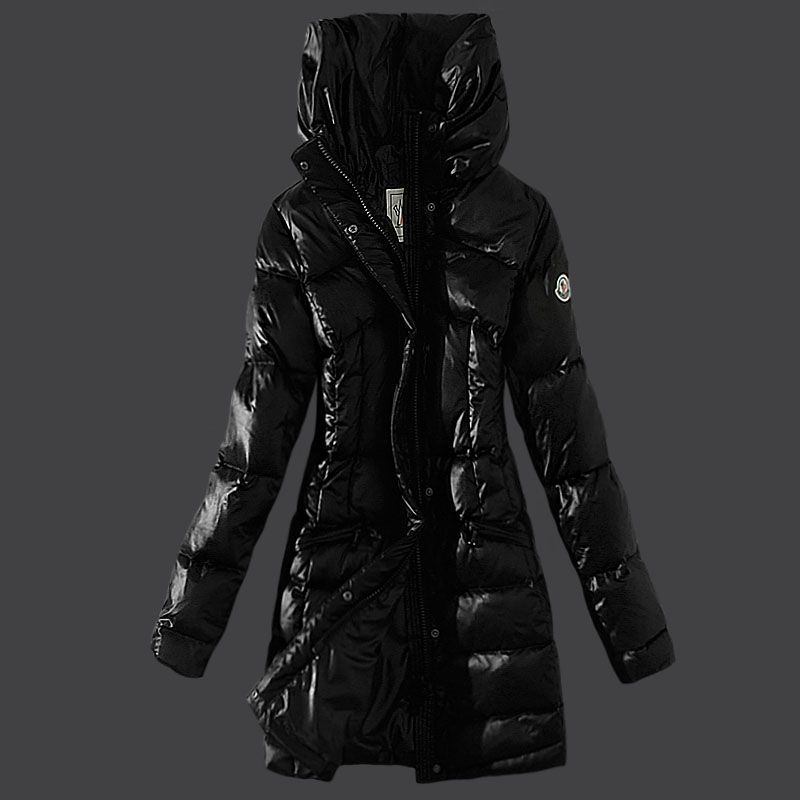 Cheap Moncler Down Coats Women Style Black DC301503 UK | Coats ...