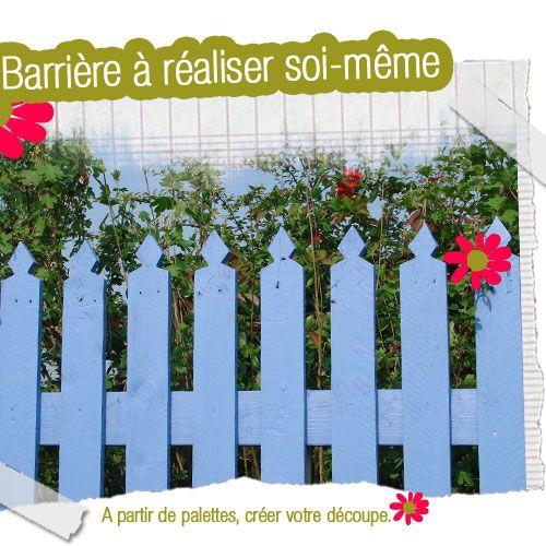 Fabriquer une barrière | bricolage | Barrière jardin, Barrière bois ...