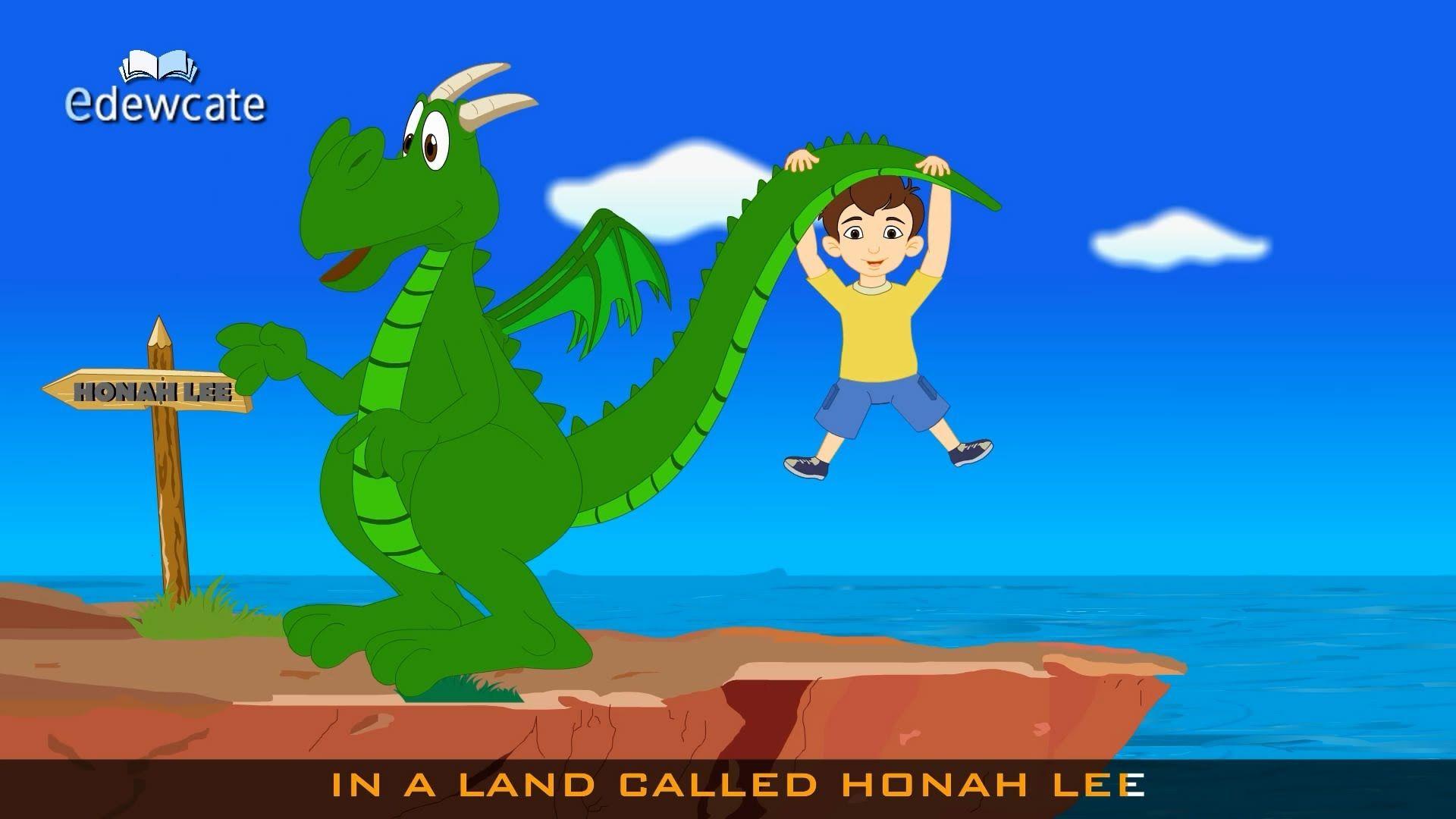 Edewcate english rhymes Magic Dragon Nursery Rhyme