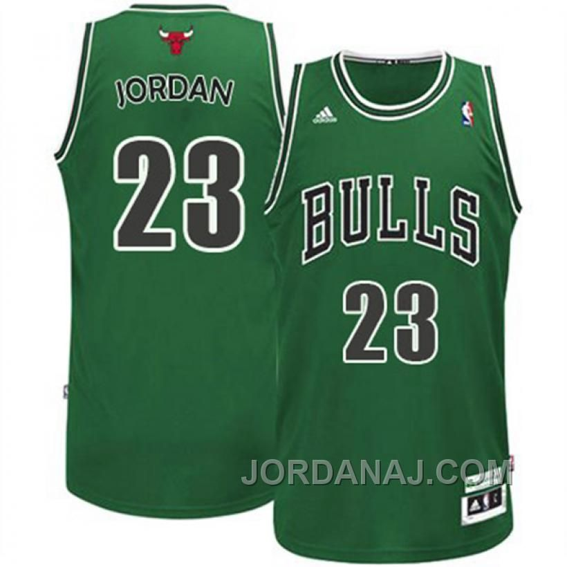 Chicago Bulls #23 Michael Jordan Green Swingman Jersey