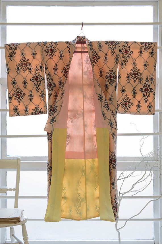 ornamental lattice kimono