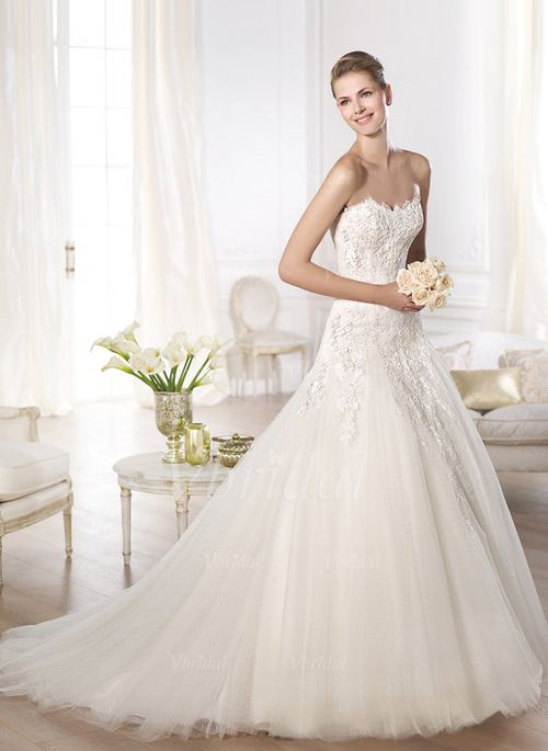 Wedding Dresses - $245.68 - Ball-Gown Strapless Sweetheart Cathedral ...