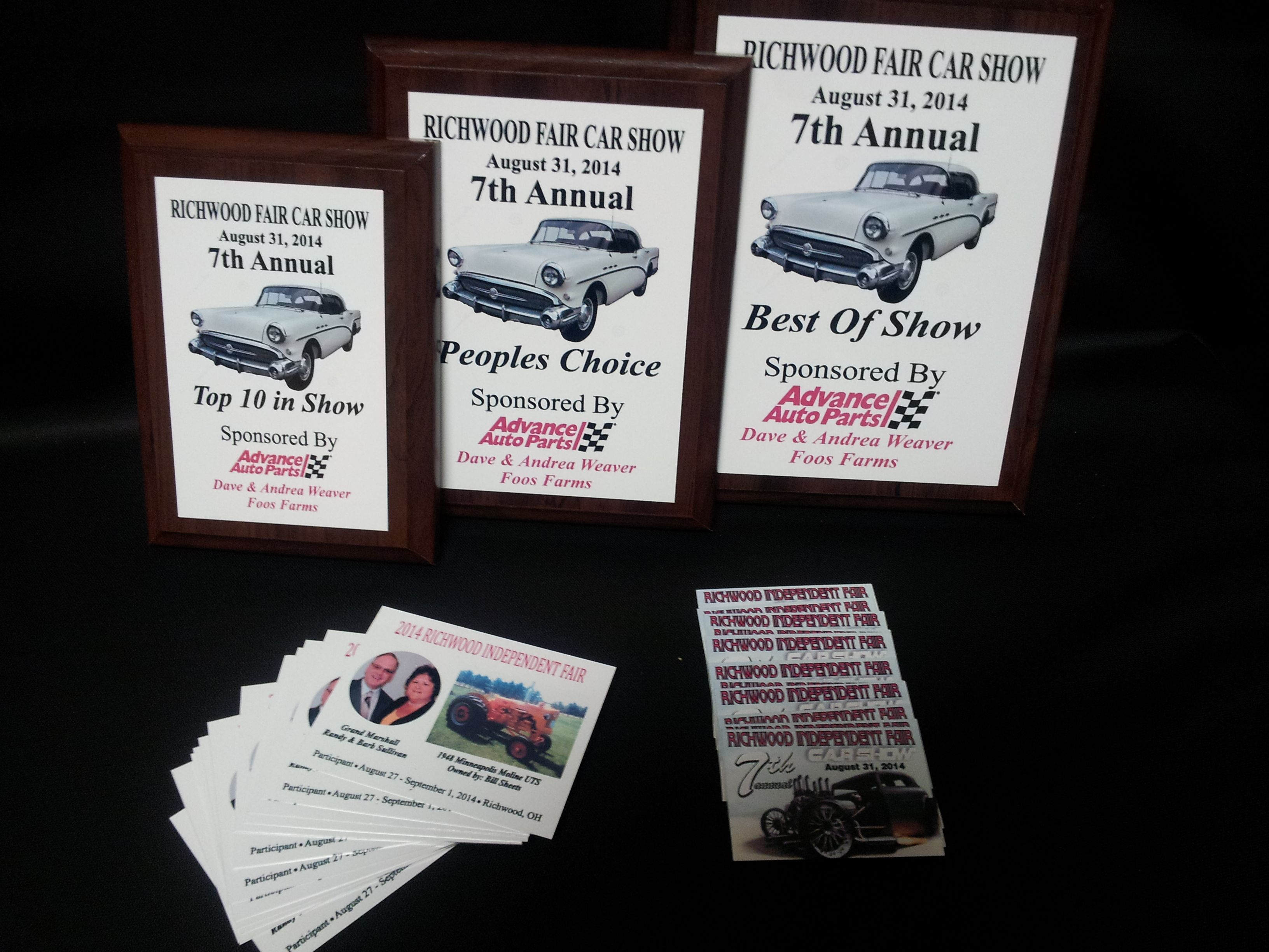 Plaques Tractor Recognition Awards And Car Show Dash Plaques All - Car show plaques