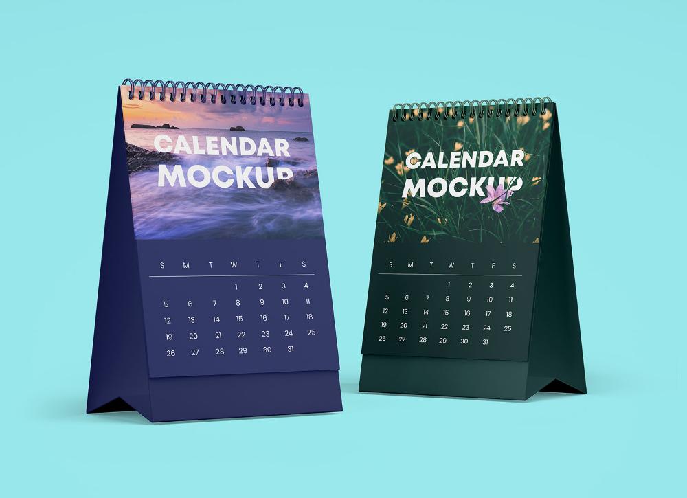 Free Table Office Desk Tent Calendar Mockup Psd Set Good Mockups Desk Calendar Mockup Mockup Psd Calendar
