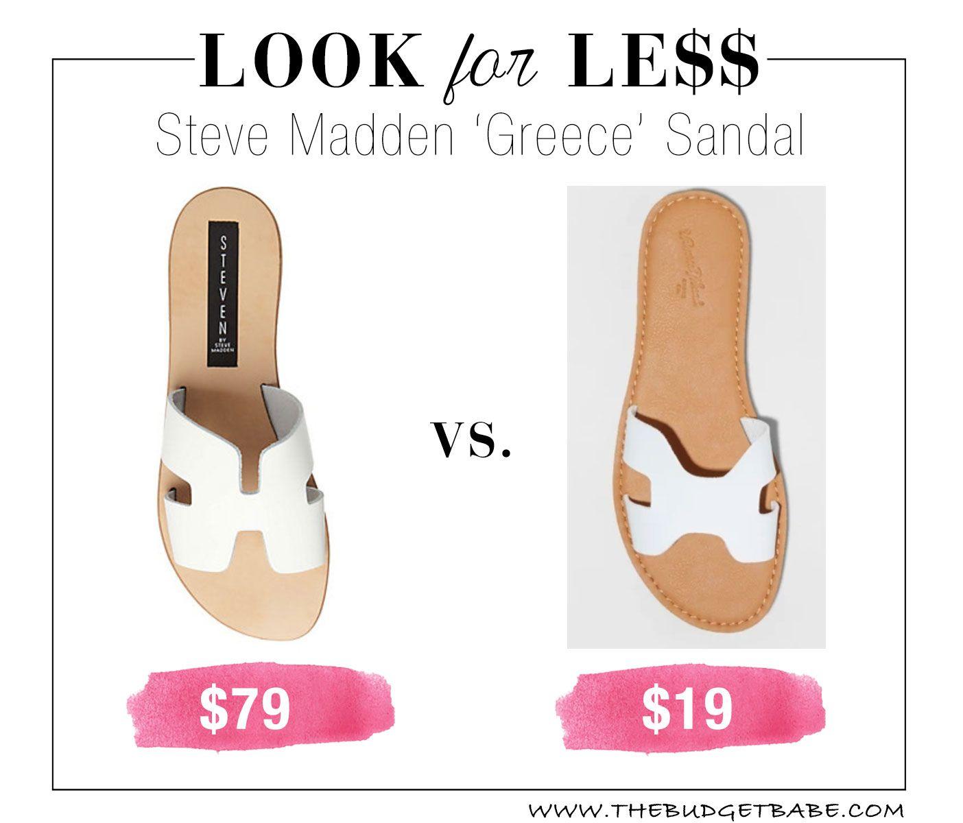 7823c8c4d88 Look for Less  Steve Madden  Greece  Sandals