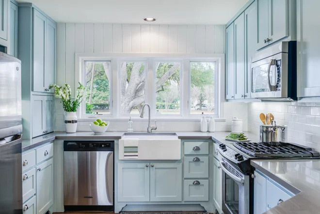 7 Sophisticated Blues For Your Kitchen Cabinets Kitchen Remodel Layout Kitchen Remodel Plans Kitchen Remodel Cost