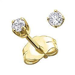 214bc569c24e3 Ben Moss Jewellers 0.10 Carat TW, 14k Gold Diamond Stud Earrings ...