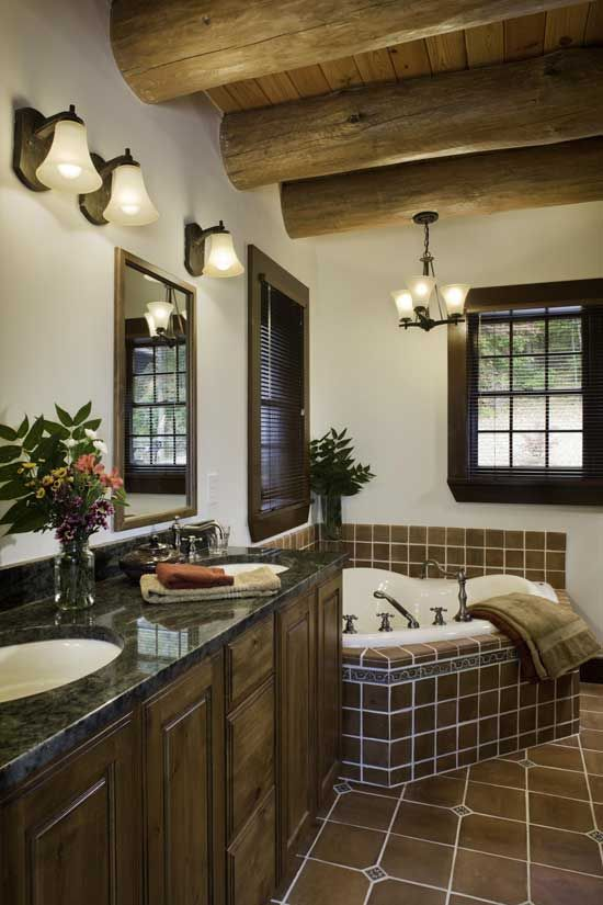 western-virginia-log-home-bathroomjpg cabin Pinterest Cabin