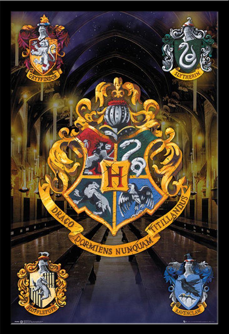 harry potter hogwarts wappen film kino poster druck gr e 61x91 5 cm meine sammlung. Black Bedroom Furniture Sets. Home Design Ideas