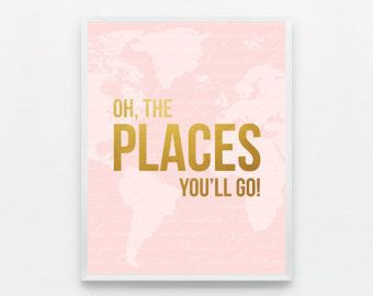 pink and gold nursery decor – Etsy