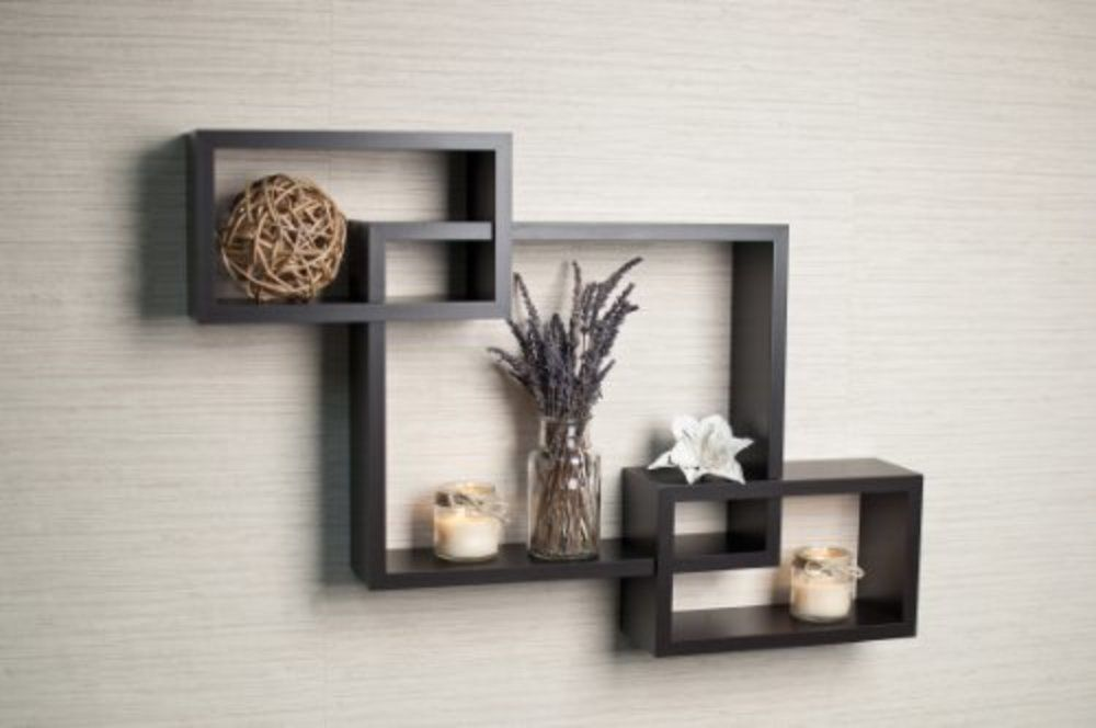 Details About Danya B Intersecting Boxes Espresso Color