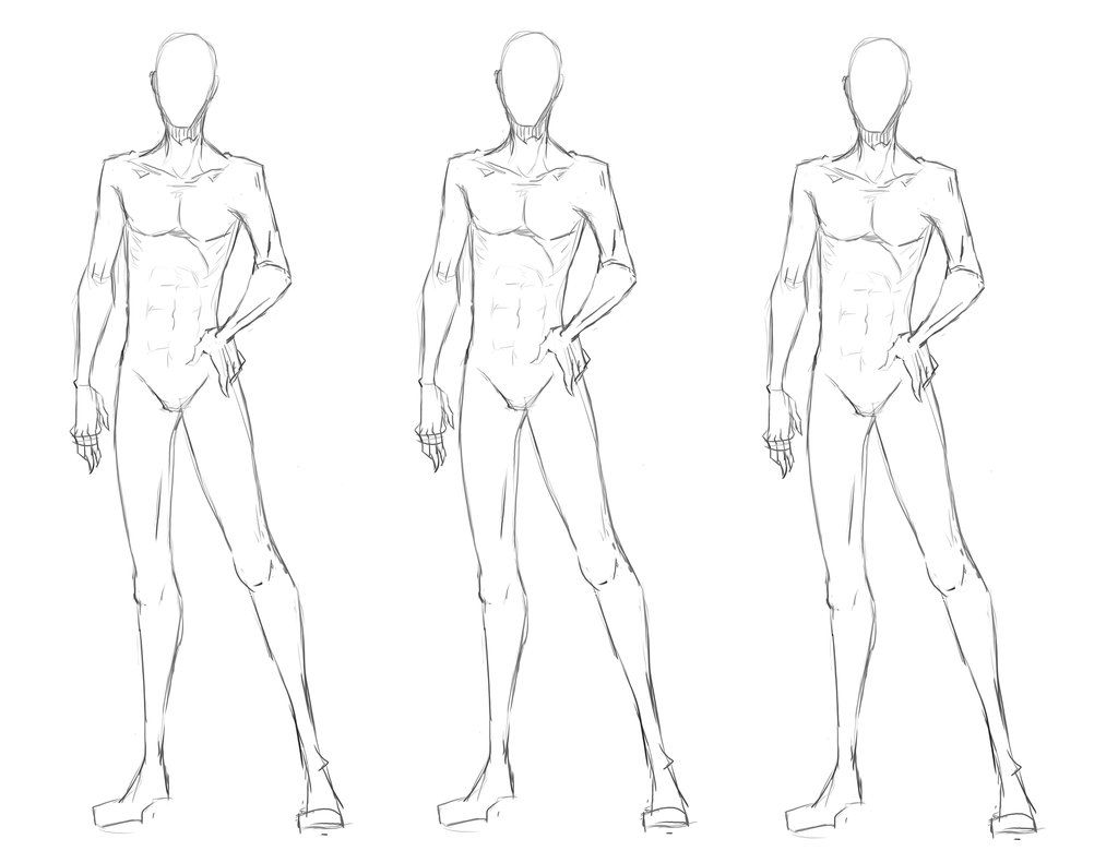 Clothing Model Base Body Drawing