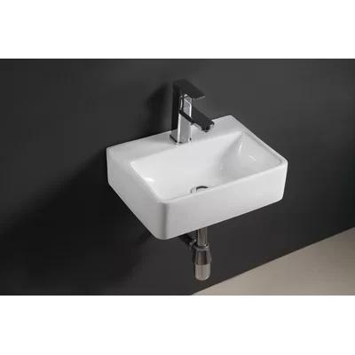 Ceramic 15 Wall Mount Bathroom Sink Wall Mounted Bathroom