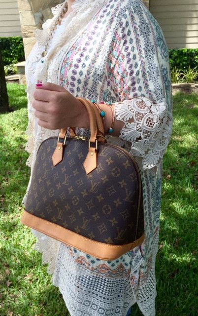 Authentic Used Louis Vuitton Alma PM Handbag in Monogram with Dustcover and  Lock Key 68c23cba8154a