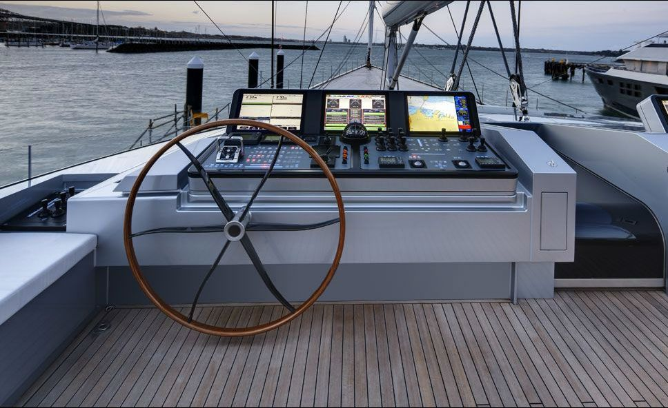 A 220 foot sailing yacht from Alloy Yachts , the AY41 Vertigo Superyacht was designed by Naval Architect Philippe Briand with sophis...
