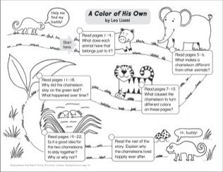 A Color Of His Own By Leo Lionni Reading Response Road Map