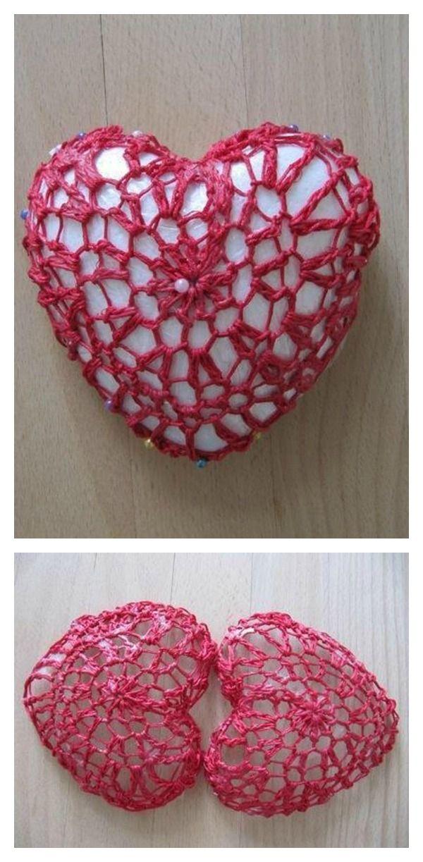 Valentines Day Crochet 3d Heart Free Patterns Pinterest Free