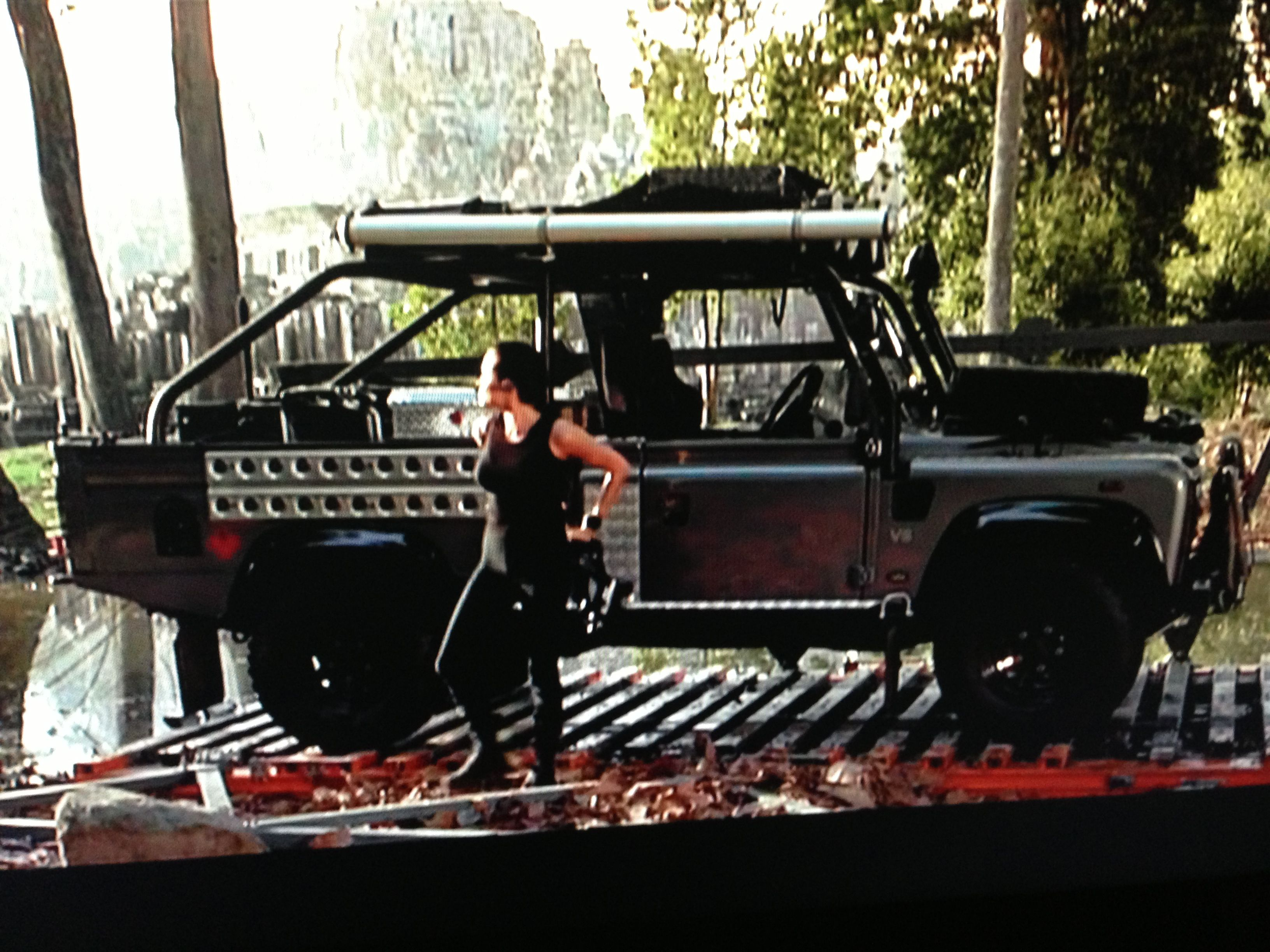Lara Croft With Her Defender 110 110land Rover