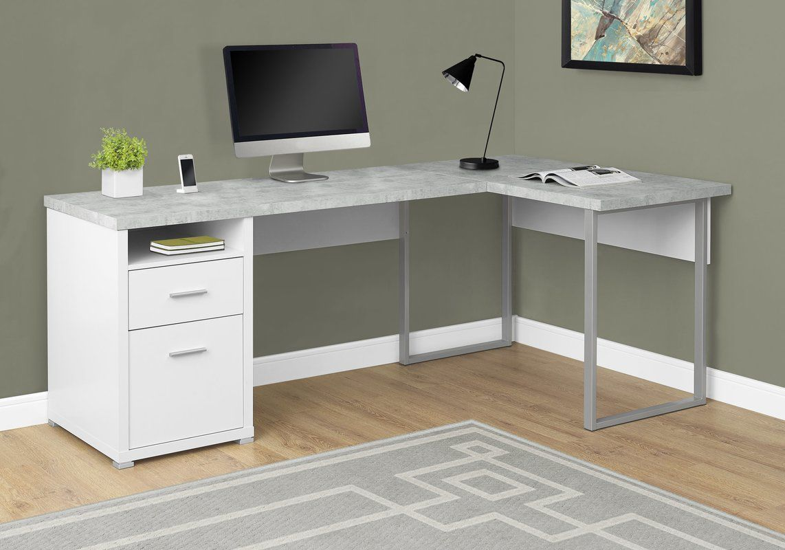 Darcio 2 Drawer L Shape Corner Desk L Shaped Corner Desk Corner