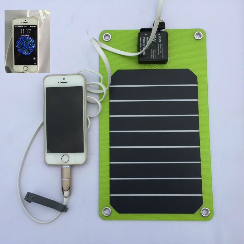 Solar Panels 5W Outdoor Solar Panel Charger USB Battery Charging For iPhone Android Mobile Phone Power Bank USA SUNPOWER