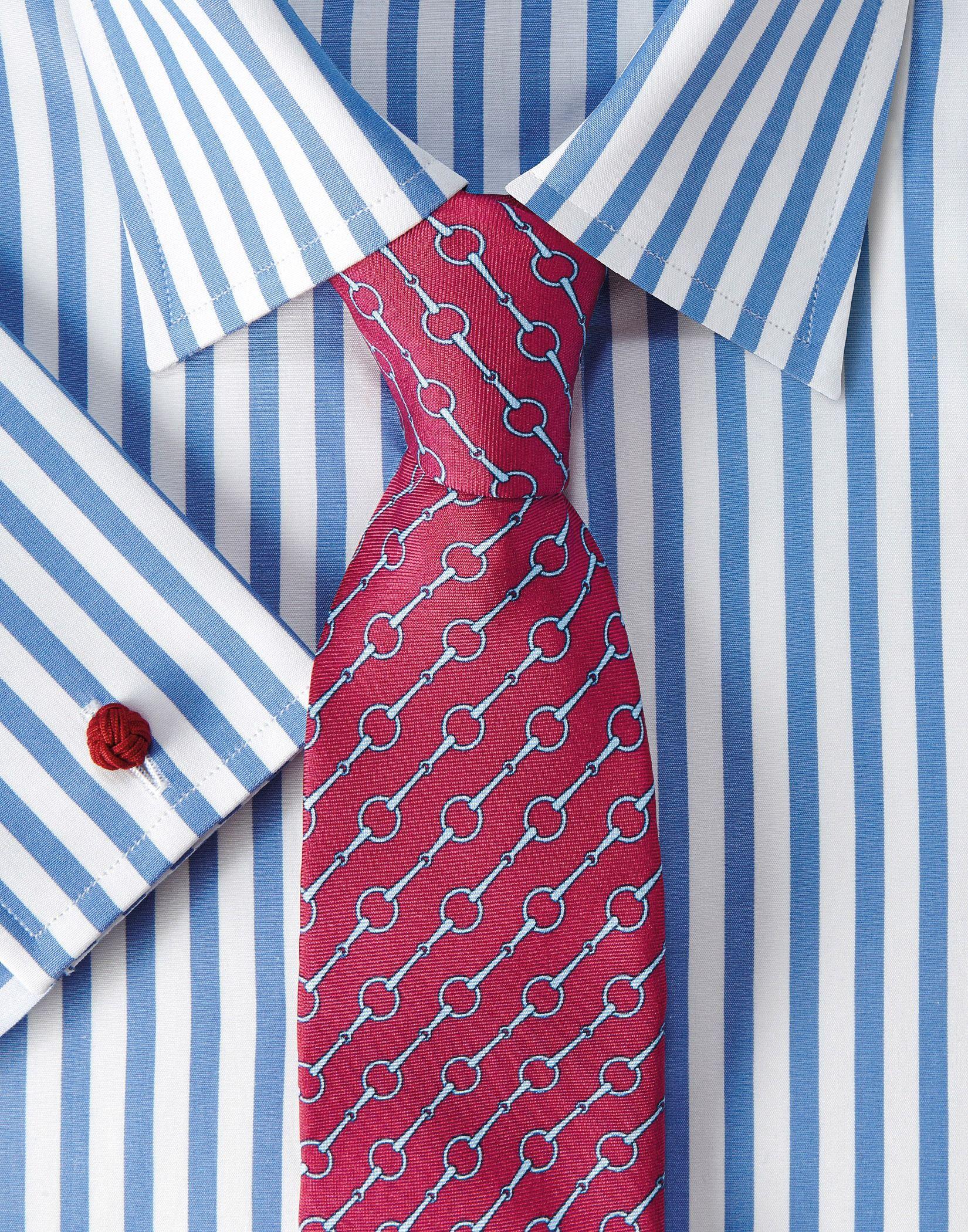 Buy The Latest Blue Butcher Stripe Shirt Mens Shirts Shirts