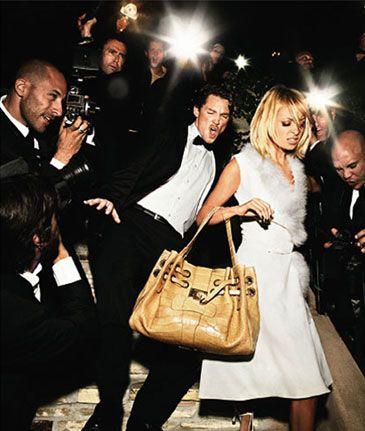 Nicole Richie wearing Jimmy Choo Ramona Handbag,  Jimmy Choo Ad 2006