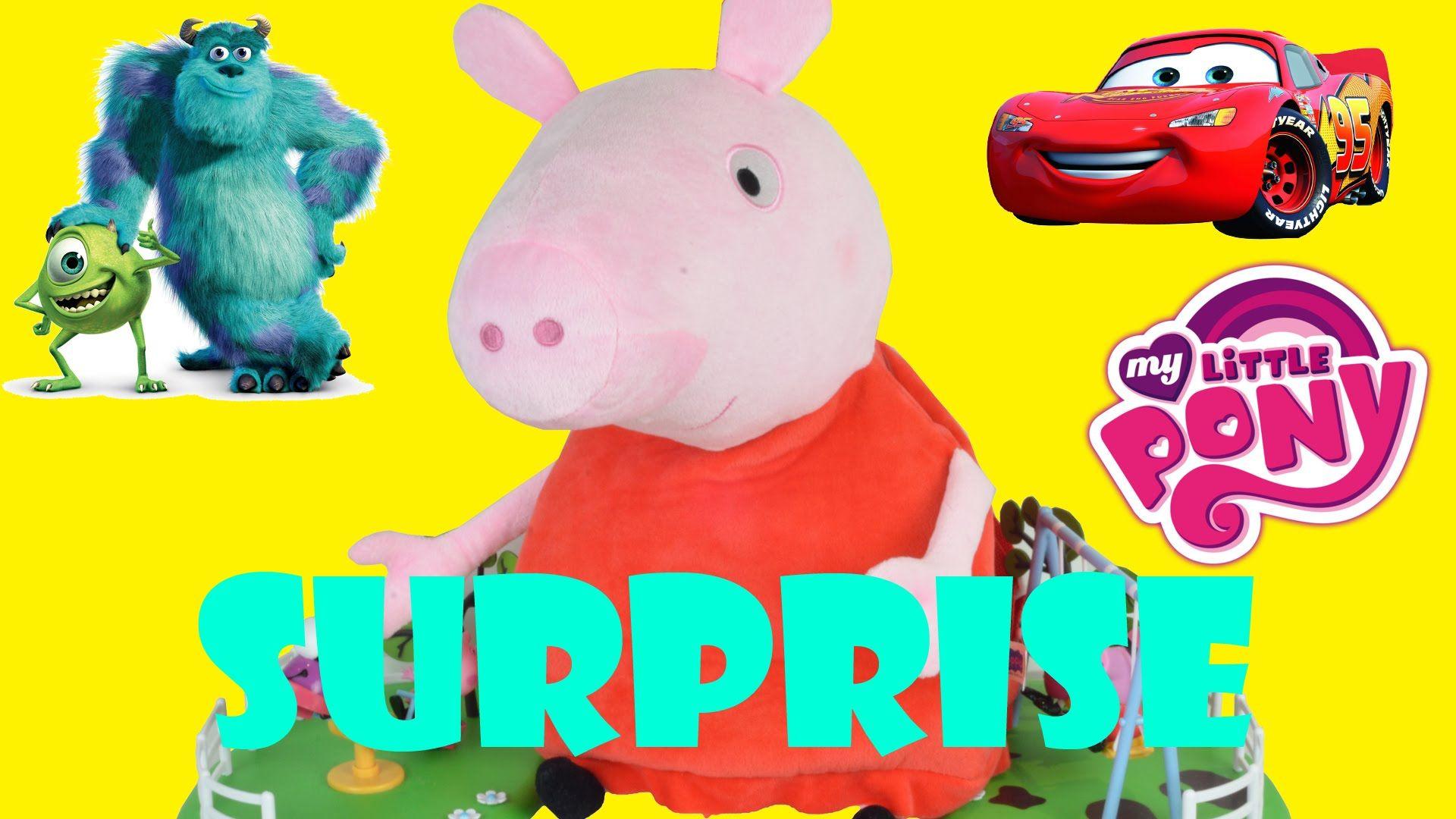 Cars 2 Giant Surprise Peppa Pig Planes Disney Doc Mcstuffins Monsters Inc My Little Pony Disney Doc Mcstuffins Peppa Pig Car Peppa Pig [ 1080 x 1920 Pixel ]