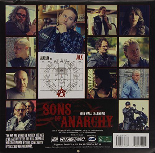 Sons of Anarchy Wall Calendar