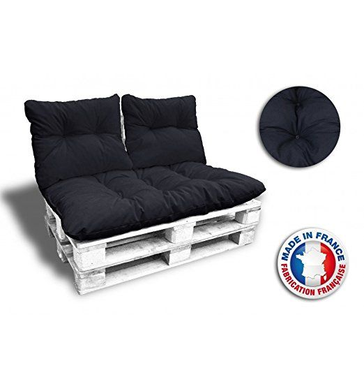 Kit COMPLET 3 COUSSINS 1 ASSISE + 2 DOSSIERS pour CANAPE euro