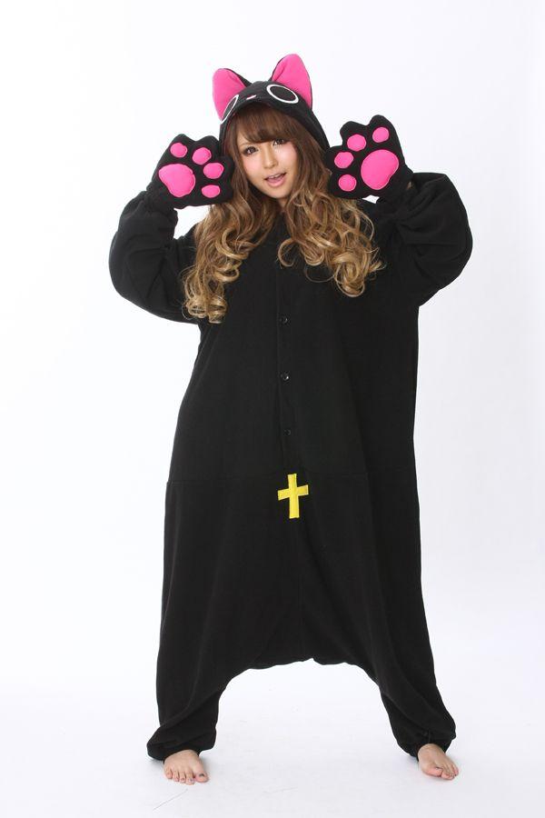 4de6ec72a921d Nyanpire The Vampire Cat Onesie Kigurumi Pajamas