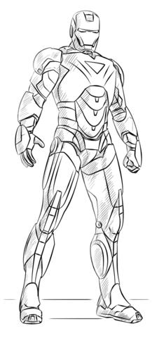 Iron Man Coloring Page In 2020 Iron Man Drawing Iron Man Art Comic Heroes Art