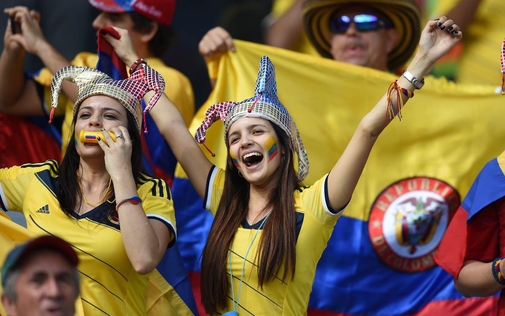 Torcedora colombiana faz a festa em Belo Horizonte