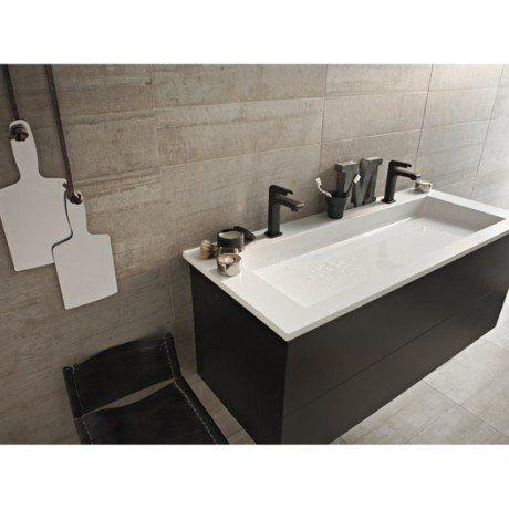 Carrelage sol et mur beige sablé effet béton Industry l60 x L60 cm