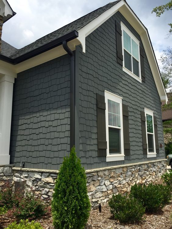 Black Fascia House Contemporary Exteriors Farmhouse: The Perfect Paint Schemes For House Exterior