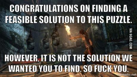 Scumbag Gaming Logic: