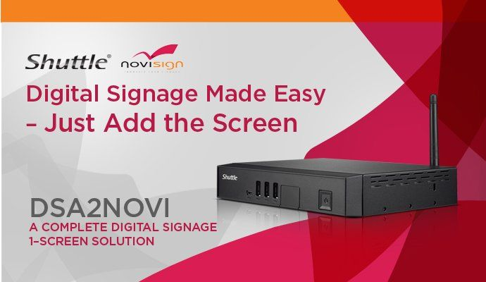 Shuttle Computer Group And Novisign Announce New Low Cost Digital