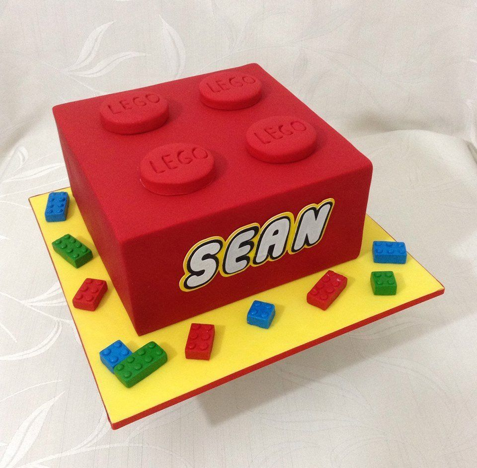 Simple Lego Cake Lego Birthday Cake