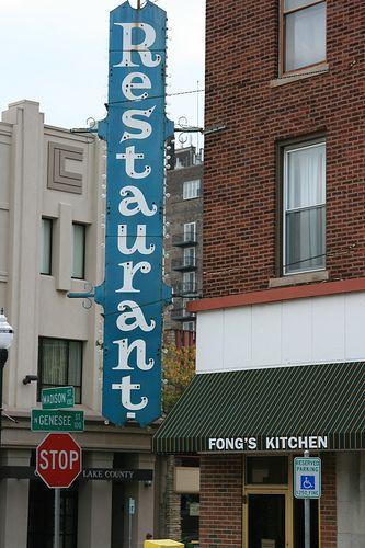Vintage Corner Restaurant Sign In Downtown Waukegan Waukegan
