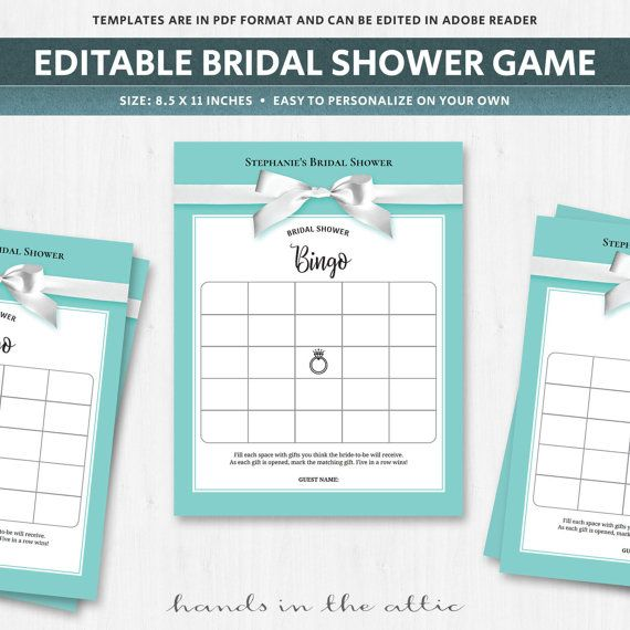 Bridal bingo bridal shower bingo game bridal shower gift bingo turquoise bingo gift game bridal shower robin egg blue eggshell blank card make your own printable download diy do it yourself digital by handsintheattic solutioingenieria Image collections