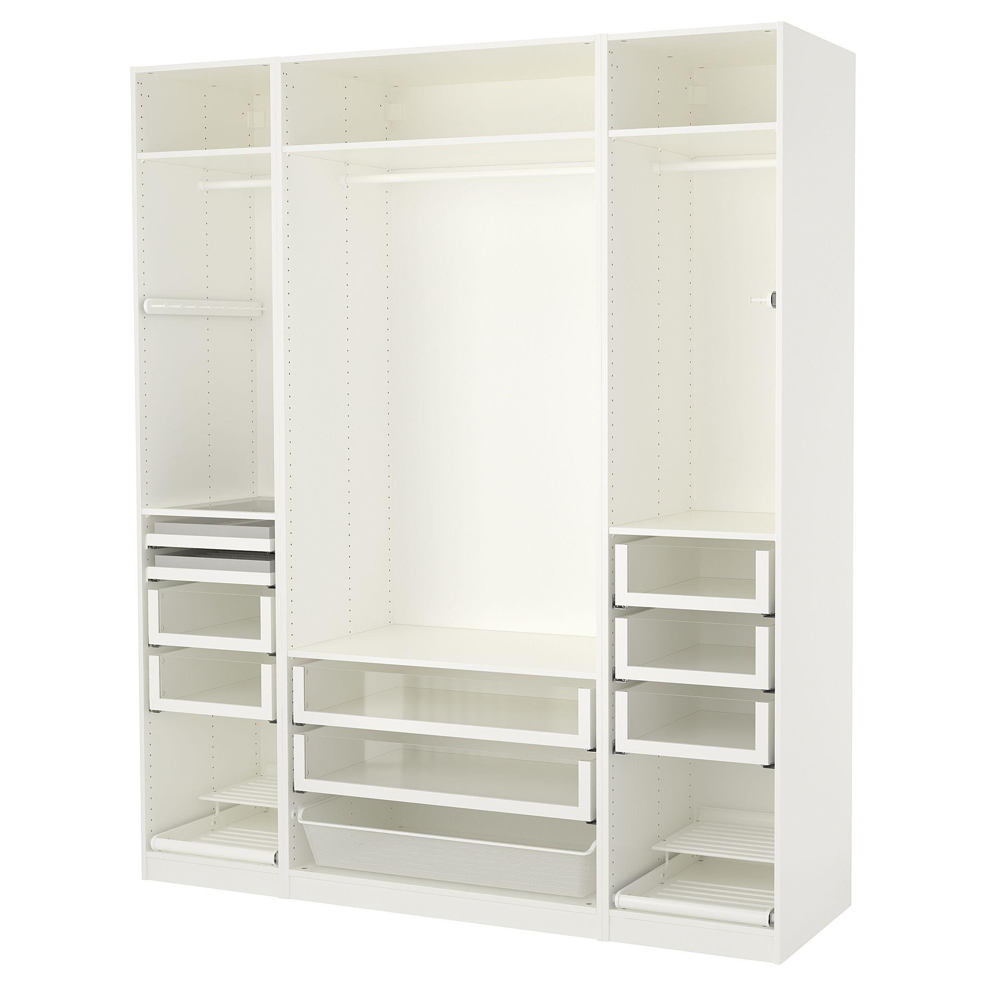 Pax Wardrobe White 78 3 4x22 7 8x93 1 8 200x58x236 Cm Ikea Pax Pax Wardrobe Ikea Pax Wardrobe